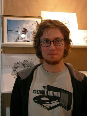 Hannes Wittmer am mairisch-Stand, Buchmesse Leipzig 2011