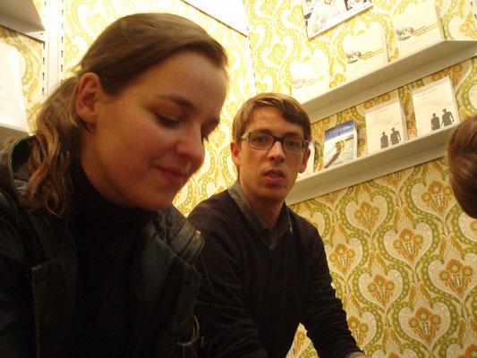 Donata Rigg und Peter Reichenbach am mairisch Stand, Buchmesse Frankfurt 2010