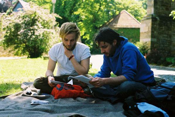 Finn-Ole Heinrich und Andreas Stichmann beim Prosanova 2008