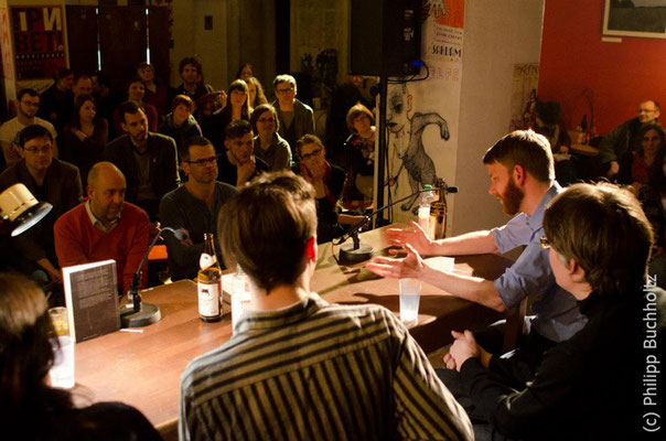 Benjamin Maack bei der UV-Lesung, Buchmesse Leipzig 2012