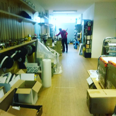 Es soll ja Verlage geben, die in einer ehemaligen Fechthalle arbeiten #bananafish #scratchbooks