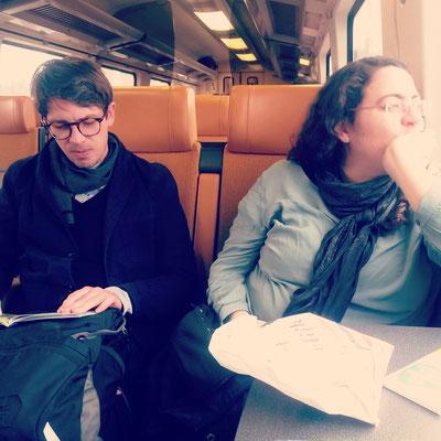 Peter und Blanka auf dem Weg nach Rotterdam