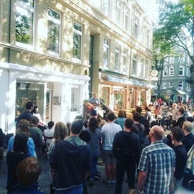 Hannes Wittmer, Live vor unserem Laden, Sep. 2018