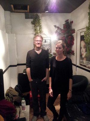 """Daniel und Hannah backstage in der """"Großen Freiheit 36"""", Winter 2014"""