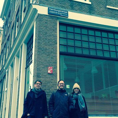 Ausflug nach Utrecht: Peter, Daniel, Hannah