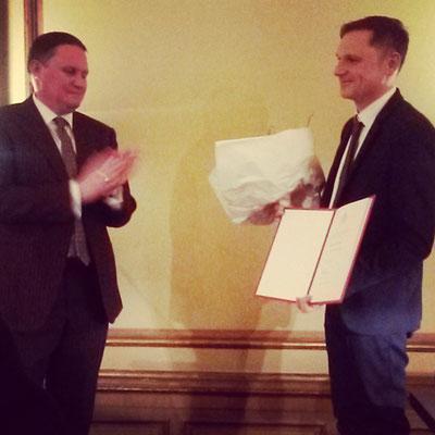 Michael Weins erhält den Fichte-Preis 2017!