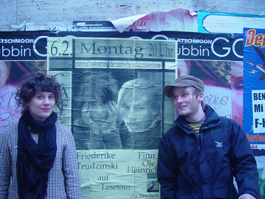 Friederike Trudzinski und Finn-Ole Heinrich auf Lesereise, Februar 2006