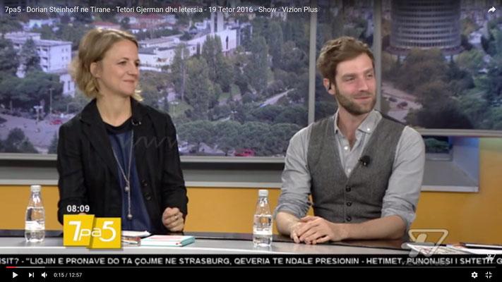 ... im albanischen Fernsehen