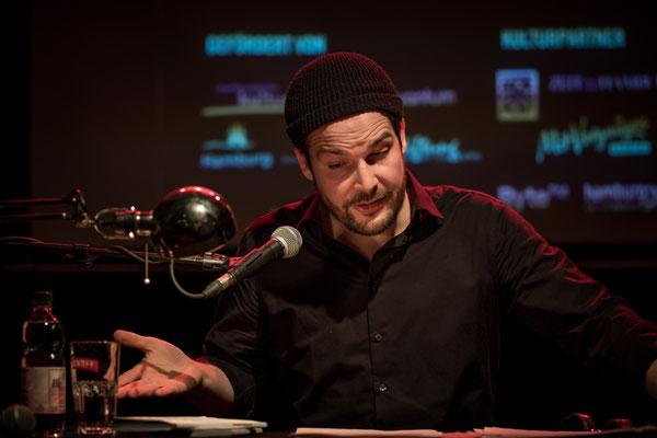Max Czollek bei HAM.LIT 2018 (Foto: Gordon Timpen)