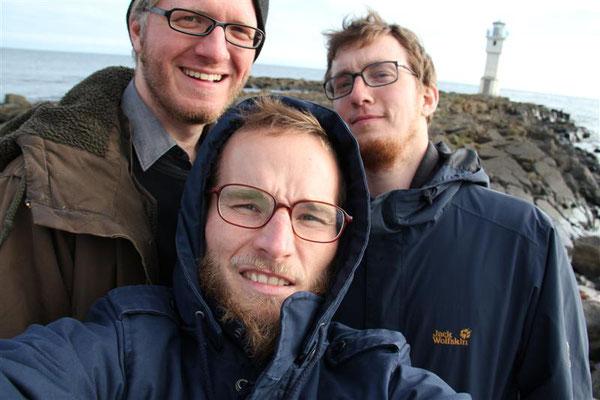 Daniel Beskos, Finn-Ole Heinrich, Hannes Wittmer in Island 2011