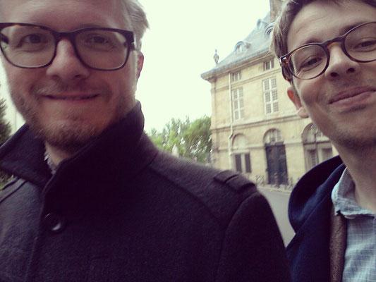 Daniel und Peter im Mai 2017 in Paris