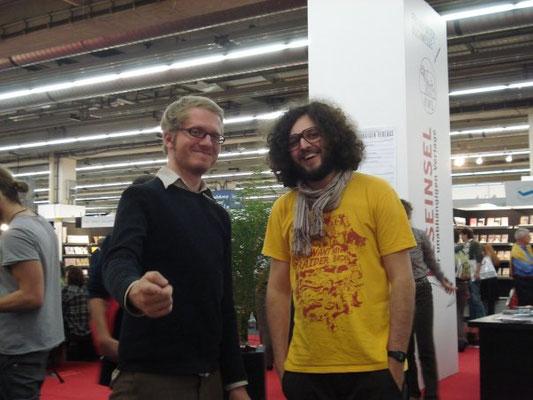 Daniel Beskos mit Mischa-Sarim Vérollet, Buchmesse Frankfurt 2009