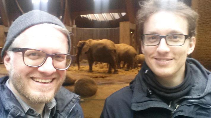 Schöne Abwechslung auf Tour: Elefanten kucken! Frühjahr 2017