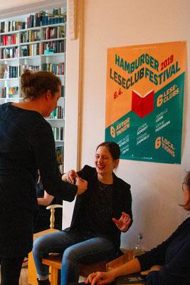 Leseclub mit Feridun Zaimoglu, Privatwohnung, Hamburg 2019