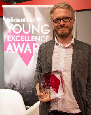 Daniel bekommt den Young Excellence Award des Börsenvereins, Frankfurt 2016