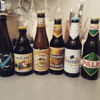 ... alle möglichen belgischen Biere besorgt ...