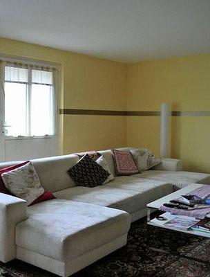 Wohnzimmer mit Farbverlauf