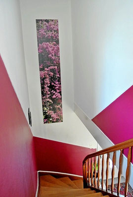 Treppenaufgang streichen und gestalten