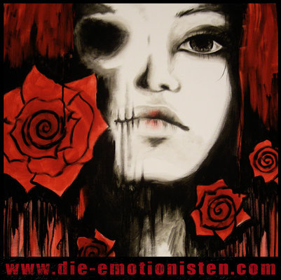 """Rosebud"" -  2013, Acryl auf Leinen, 60 x 60 cm, Kaufpreis 300,-"