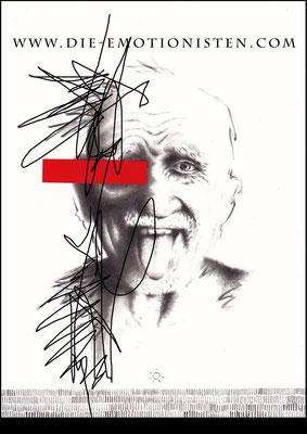 """""""Spiegelbilder"""" """"Walter"""" -  2015, Acryl und Graphit auf Zeichenkarton, 20 x 30 cm, Kaufpreis 200,-"""