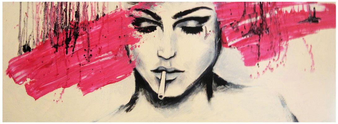 """Magenta"" -  2013, Acryl auf Leinen, 80 x 30 cm, Kaufpreis 1200,-"