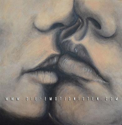 """""""Kiss"""" -  2014, Acryl auf Leinen, 40 x 40 cm, Kaufpreis 200,-"""