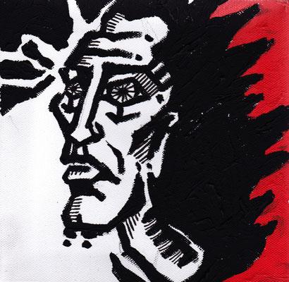 """""""Der Graf"""" -  2013, Acryl auf Leinen, 20 x 20 cm, Kaufpreis 50,-"""
