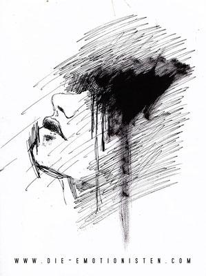 """""""Face 3"""" -  2013, Acryl und Tusche auf Papier, 25 x 30 cm, Kaufpreis 80,-"""