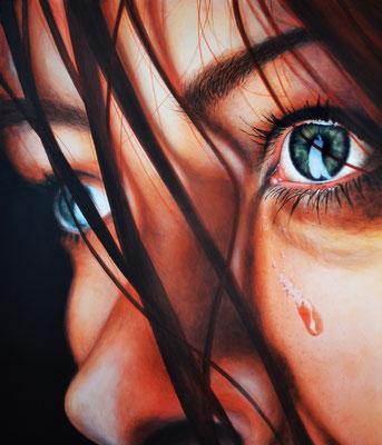 """""""Tears"""" -  2013, Acryl auf Leinen, 60 x 70 cm, Kaufpreis 2500,-"""