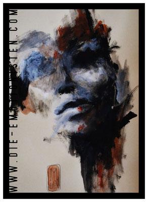 """Serie """"Faces 2"""", Acryl auf Zeichenpapier, 30x40cm, Kaufpreis 250,- / gesamte Serie: 600,- (3 Werke)"""