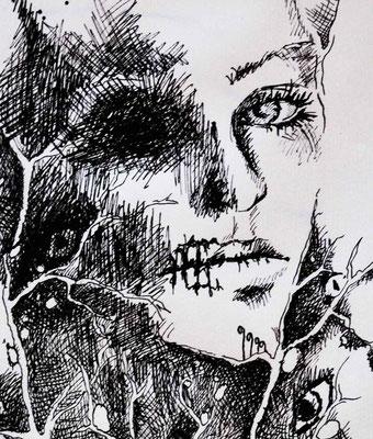 """Alto"" -  2013, Tusche auf Papier, 20 x 30 cm, Kaufpreis 80,-"