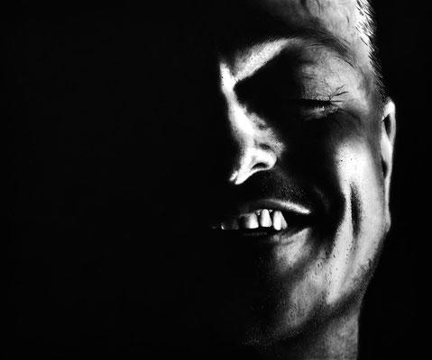 """Serie Lächeln ""Nr. 1"" -  2014, Acryl auf Leinen, 120 x 100 cm, Kaufpreis 5000,-"