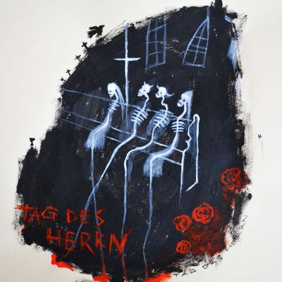 """Tag des Herrn"" -  2014, Acryl auf Papier, 25 x 30 cm, Kaufpreis 100,-"