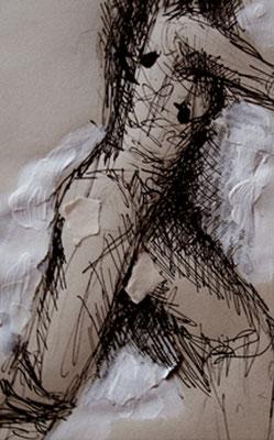 """Serie """"Capture 2"""" -  2013, Tusche auf Papier, 30 x 40 cm, Kaufpreis 150,-"""