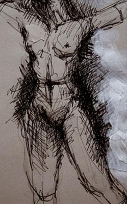 """Serie """"Capture 3"""" -  2013, Tusche auf Papier, 30 x 40 cm, Kaufpreis 150,-"""