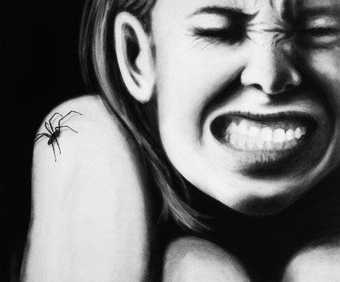 """""""Spider"""" -  2013, Acryl auf Leinen, 70 x 60 cm, Kaufpreis 1600,-"""