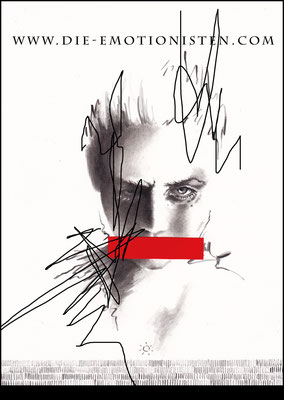 """""""Spiegelbilder"""" """"Marianne"""" -  2015, Acryl und Graphit auf Zeichenkarton, 20 x 30 cm, Kaufpreis 200,-"""