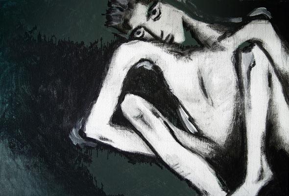 """Perception"" -  2013, Acryl auf Leinen, 30 x 20 cm, Kaufpreis 200,-"