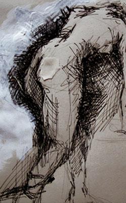 """Serie """"Capture 1"""" -  2013, Tusche auf Papier, 30 x 40 cm, Kaufpreis 150,-"""