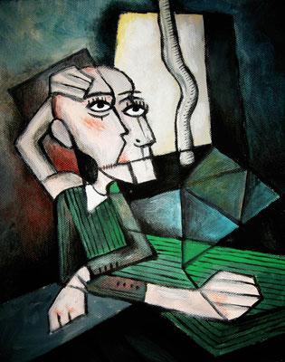"""Freedom"" -  2013, Acryl auf Leinen, 30 x 40 cm, Kaufpreis 250,-"