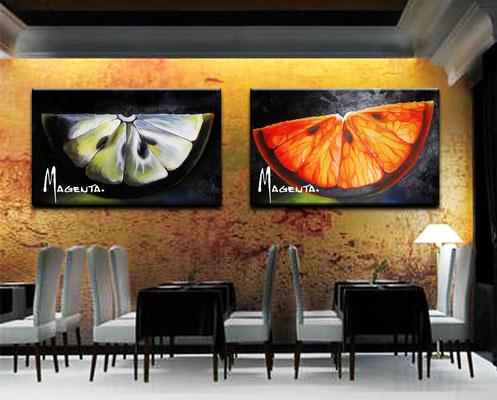 """""""Fruits"""" -  2013, Acryl auf Leinen, 50 x 70 cm, Kaufpreis 200,-"""