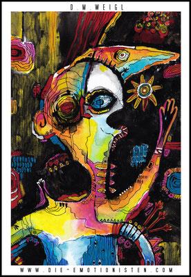 """""""Laetus I"""" -  2015, Acryl auf Leinen, 20 x 30 cm, Kaufpreis 250,-"""