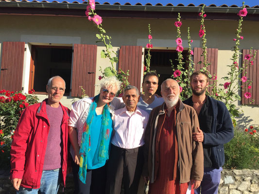 Sagnol, August 2016 - With Swamiji, Alain Chevillat, Pierre Montel et Raphael