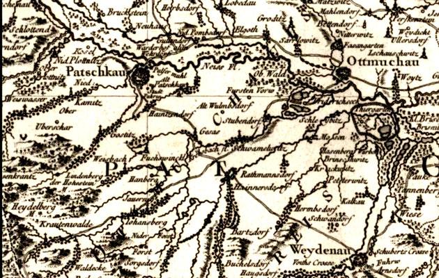 Karte von 1758