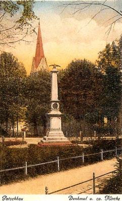 Kriegerdenkmal 1870/71, alte Postkarte