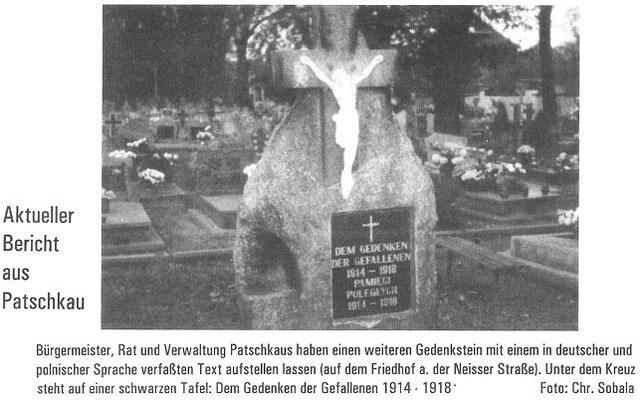 Gedenkstein auf dem neuen Friedhof