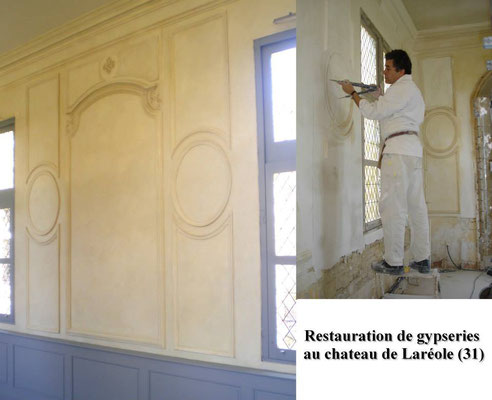 Restauration de gypserie
