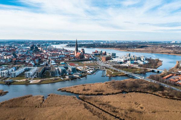 Blick auf Rostocker Innenstadt