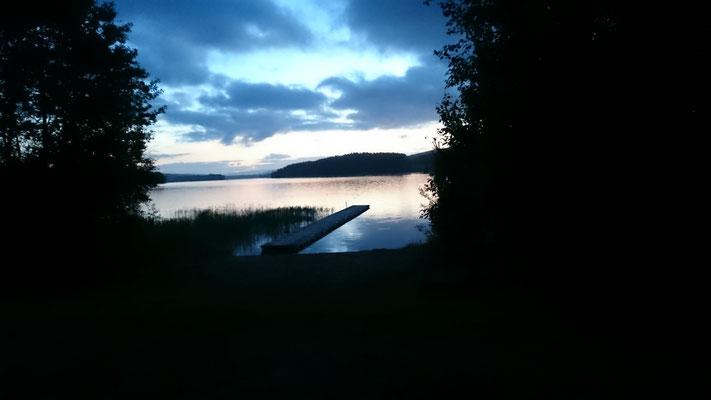 Sonnenuntergang am Lager