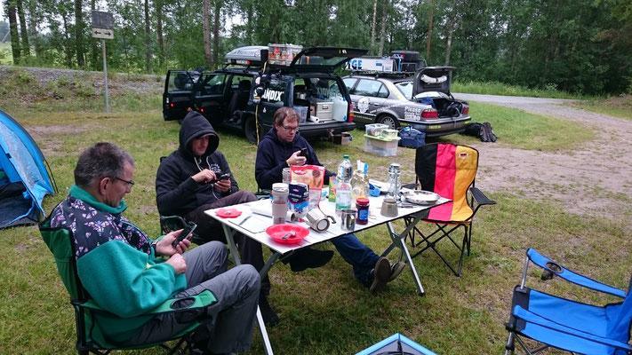 Abendessen am Lager